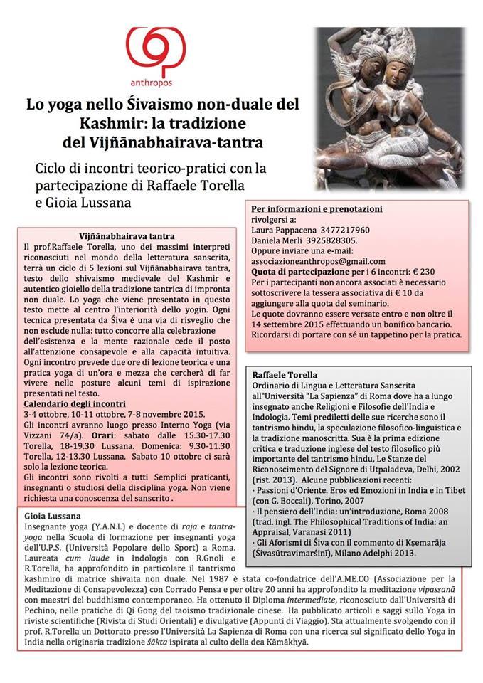 Śivaismo non duale del Kashmir con Raffaele Torella