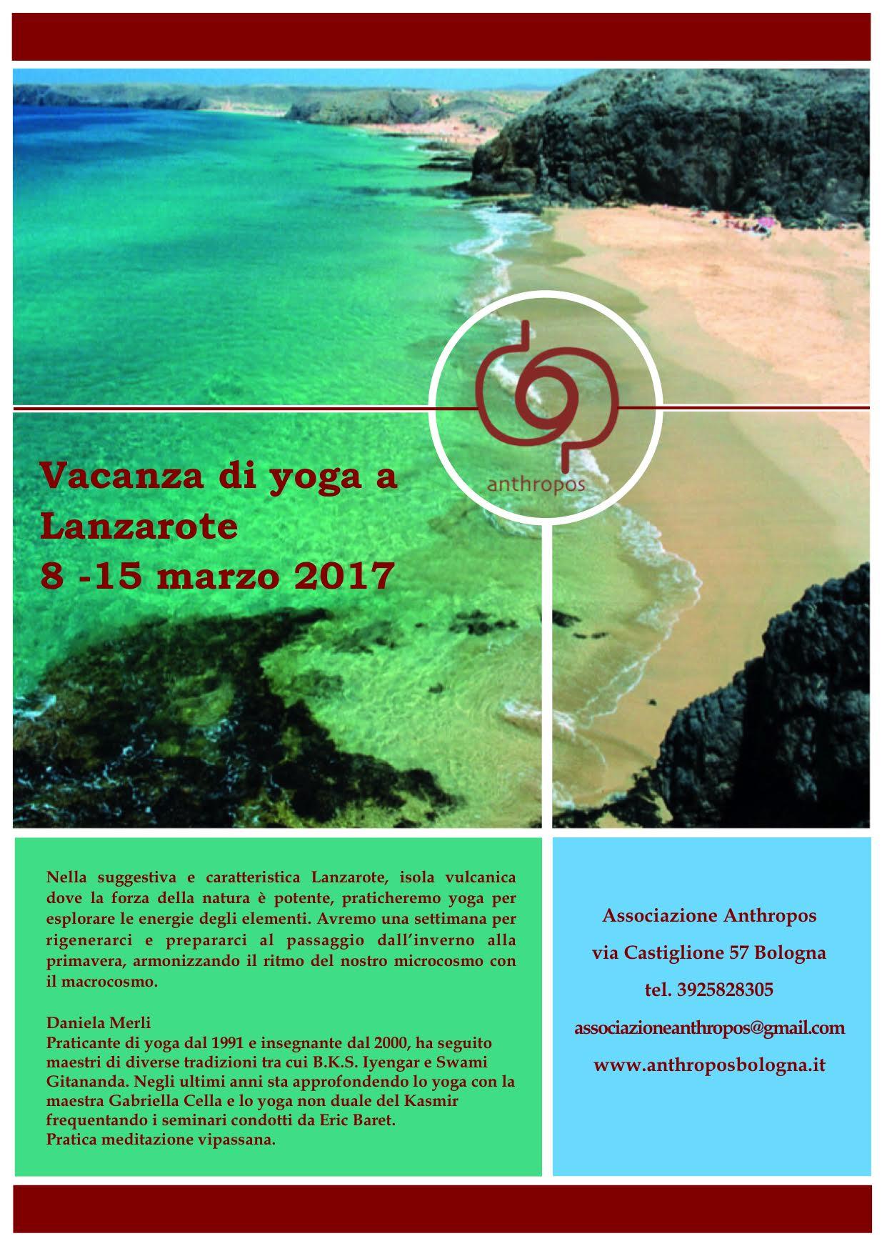 Anthropos Bologna Vacanza di yoga a Lanzarote