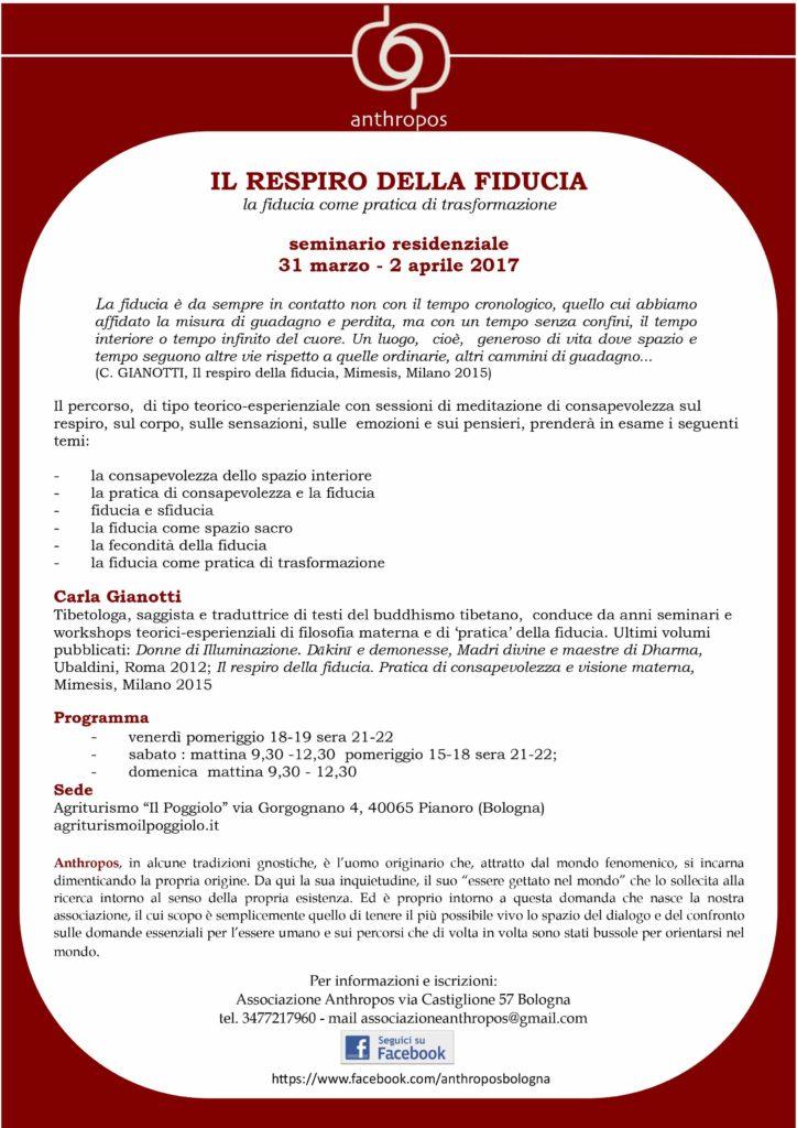 seminario residenziale con Carla Gianotti - anthroposbologna